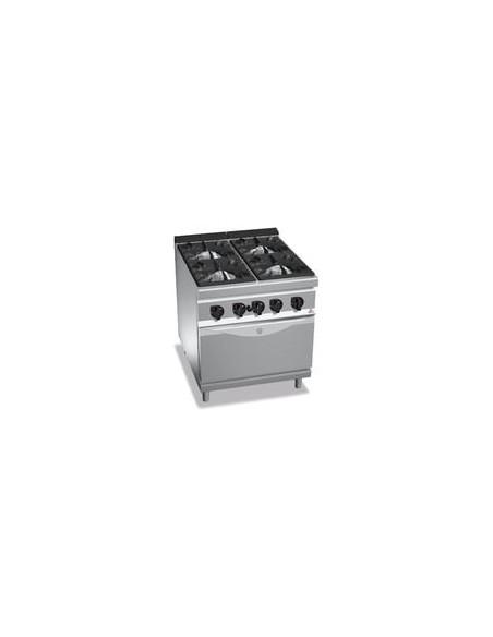 Bertos G9F4+FG Burner Gas Range(LPG) With Oven