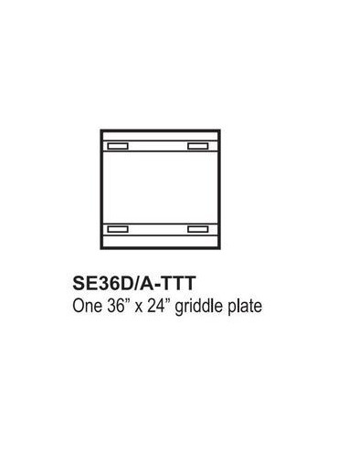 "Southbend S-Series SE36D-TTT 36"" Electric Range w/ 36"" Griddle & Standard Oven"