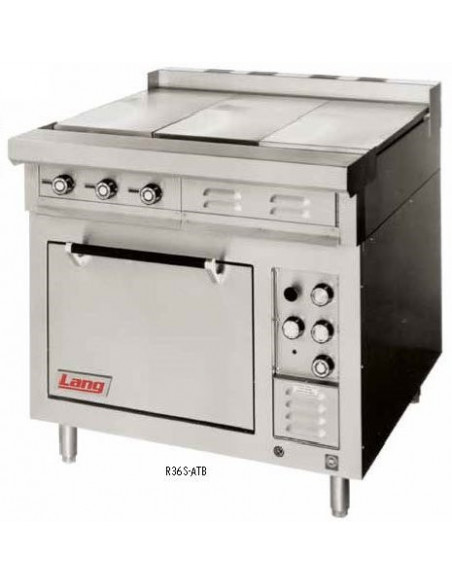 "Lang R36S-ATD Heavy Duty Range, electric, 36"", griddle, 1/2"" thick plate"