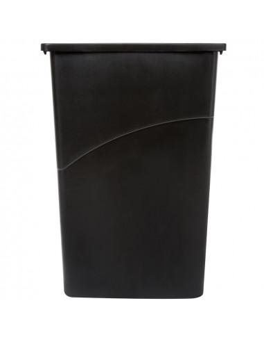 Rubbermaid FG354000BLA Slim Jim Wall Black Wall Hugger Trash Can