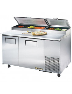True TPP-60 2 Doors Pizza Prep Refrigerator