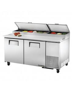 True TPP-67 170cm 2 Doors Refrigerated Pizza Prep Table