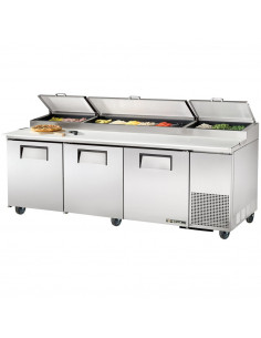 True TPP-93 236cm 3 Doors Refrigerated Pizza Prep Table