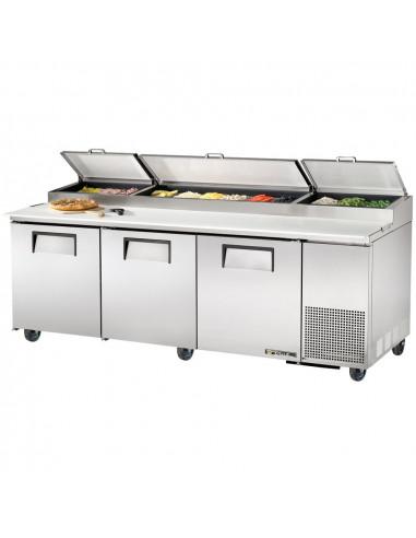 True TPP-93 236cm 3 Doors Refrigerated Pizza Prep Table
