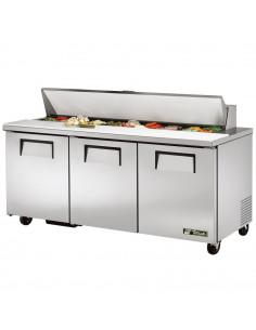 True TSSU-72-18  Three Doors  Sandwich Salad Prep Refrigerator