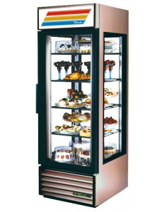 True G4SM-23 White Four Sided Glass Door Refrigerator Merchandiser