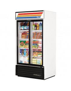 True GDM-33 White Glass Door Refrigerator 110V