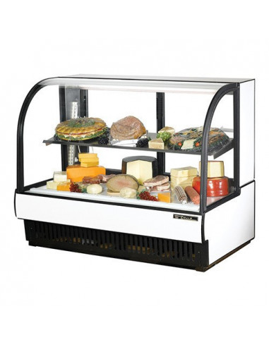 True TCGR-59-CD Curved Glass Refrigerated Cold Deli Case