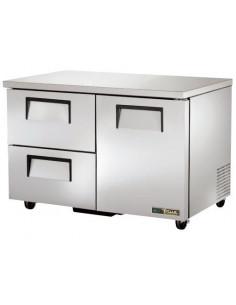 True TUC-48D-2 One Door - Two Drawers Undercounter Refrigerator