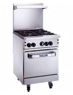 "Vulcan 24S-4B Endurance  Gas 4 Burner 24"" Range with Standard Oven"
