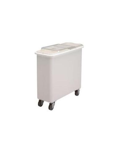 (IBSF27148) وعاء أبيض لحفظ الأطعمة الجافة