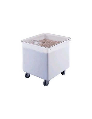 Cambro White Flat Top Ingredient Bin with Clear Lid