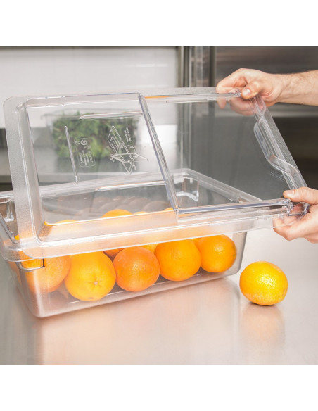 Cambro 1218SCCW135 Camwear Clear Sliding Lid for Food Storage Box