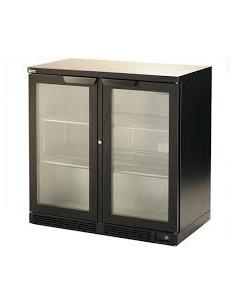آي إم سي هوريكان H90 - ثلاجة مشروبات فاخرة باللون الأسود تُوضع تحت الأسطح بباب مزدوج