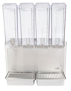 Crathco Mini-Quad E49-3 Quadruple 7L Bowl Beverage Dispenser