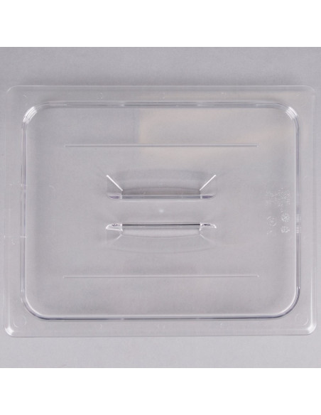 Cambro 20CWCH135 Camwear 1/2 Size Clear Polycarbonate Handled Lid