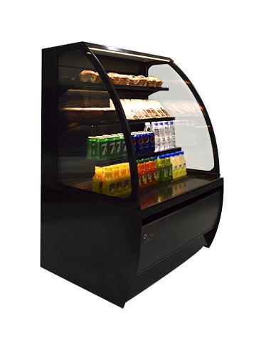 Brodan SOUDA-GNG-900-BLK Grab and Go Black Refrigerated