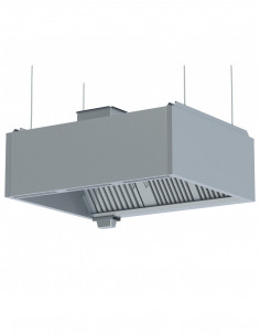 Miran Double Skin Exhaust Hood Without Side Covers
