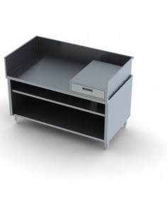 Miran Small Open Base Cabinet With Drawer Side Splash and Backsplash