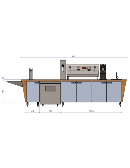 Miran Barista Bar Counter Cabinet
