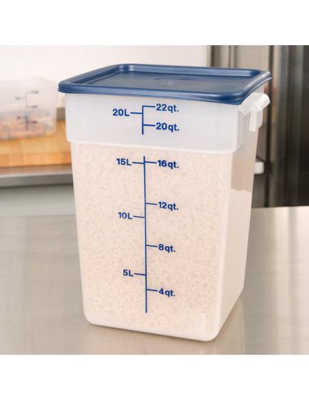 Cambro Square Polycarbonate 22 Qt. Food Storage Container