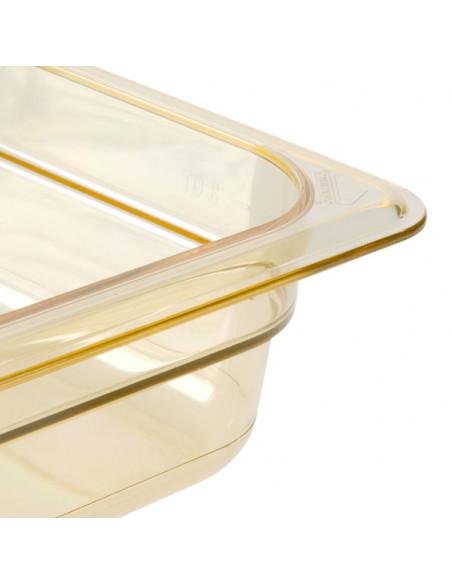 Cambro H-Pan 1/2 Size Amber High Heat Food Pan