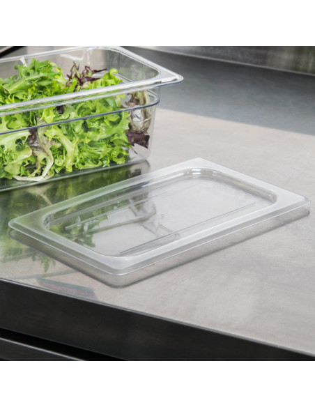 Cambro Camwear 1/4 Size Clear Poly-carbonate Flat Lid