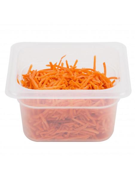 """وعاء طعام نصف شفاف بمقاس 16 وعمق 4"""" من كامبرو"""