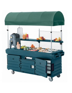 Cambro KVC854C192 CamKiosk Granite Green Vending Cart