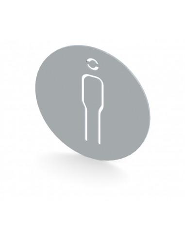 إشارة توضع للدلالة على دورة المياة للرجال - مصنوعة من الفولاذ