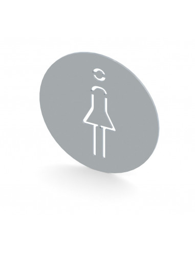 Miran Stainless steel Women Toilet Sign
