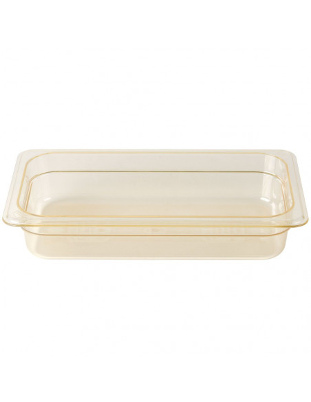 Cambro 32HP150 1/3 Size Amber High Heat Food Pan