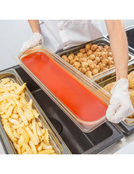 وعاء طعام طويل اتش بان بمقاس 1/2 يتحمل درجات الحرارة العالية
