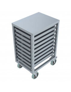 Miran Stainless Steel Gastronorm Rack Trolley
