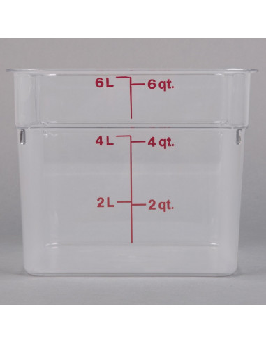 Cambro  6 Qt. Square Food Storage