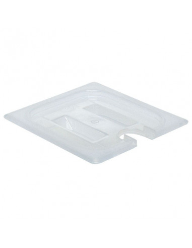 Cambro 60PPCHN190 Translucent 1/6-Size Notched Food Pan Cover