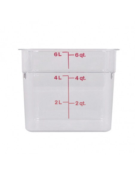 Cambro Clear Square Poly-carbonate Food Storage Containers