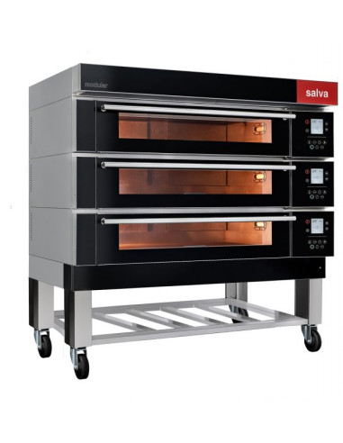 Salva EMD20 Triple Deck Bake Oven with Steam Generator