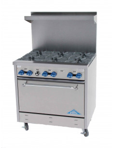 Castle F330 6 Burners Gas Range with Oven