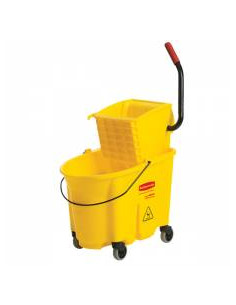 RM Wavebrake Bucket with Side Press Wringer Yellow