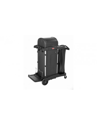 Rubbermaid FG9T7500BLA Janitorial Cleaning Cart with Doors And
