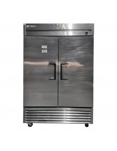 [Used] True T-49F Two Section Solid Door Reach in Freezer, 12 Months Warranty