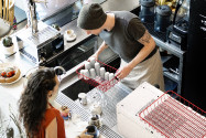 آلة الاسبريسو تاندم بمجموعتين و باللون الأسود من أيبريتال