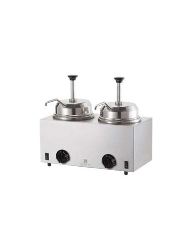 Server Twin Topping Warmer with pump 2.8L