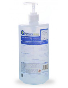 Protect Plus Hand Sanitizer Gel (76% Alcohol) with Pump 1 Liter