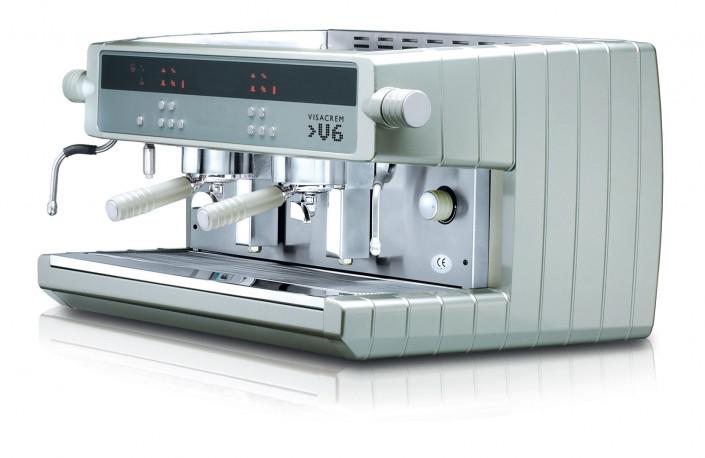 VISACREM V6  آله الاسبريسو من  بنظام التحكم الحجمي 2 مجموعات
