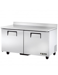 True TWT-60F-220V Two Door Worktop Freezer