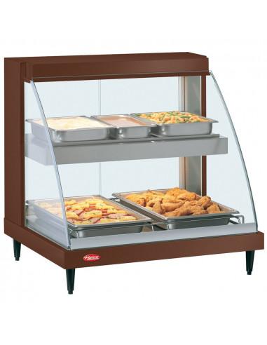 Hatco GRCD-2PD Copper Glo-Ray Full Service Double Shelf Merchandiser