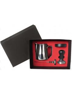 Barista Box 9V8007 Black Tamper Handle and Holder