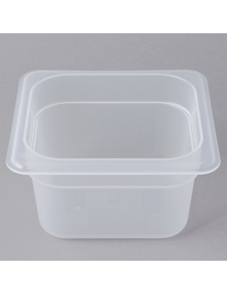 "Cambro 64PP190 1/6 Size Translucent Food Pan - 4"" Deep"